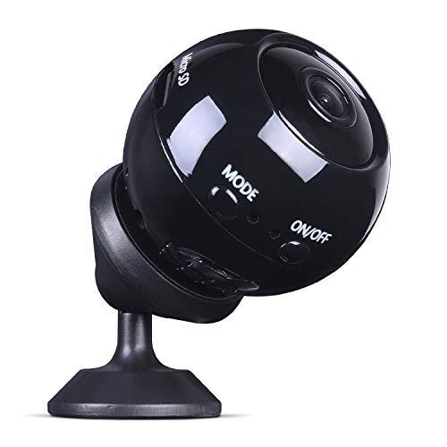 DECMAY Mini Kamera, HD 1080P WiFi Überwachungskamera, Automatische Nachtsicht, Minikamera mit Bewegungserkennung und Speicher, Tragbare Mikro Cam für Innen und Aussen mit Einer 32G SD-Karte