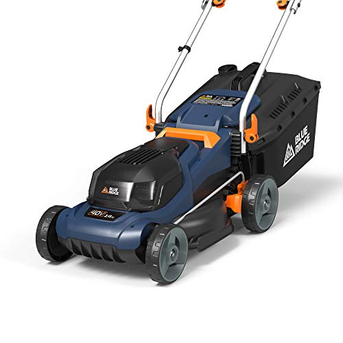 "BLUE RIDGE BR8761U 40V 2.0Ah 14"" Cordless Electric Battery Lawn Mower Review"