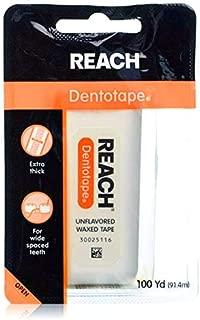 J&J REACH リーチ デンタルフロス デントテープ ワックス・ノンフレーバー 100ヤード(91.4m)