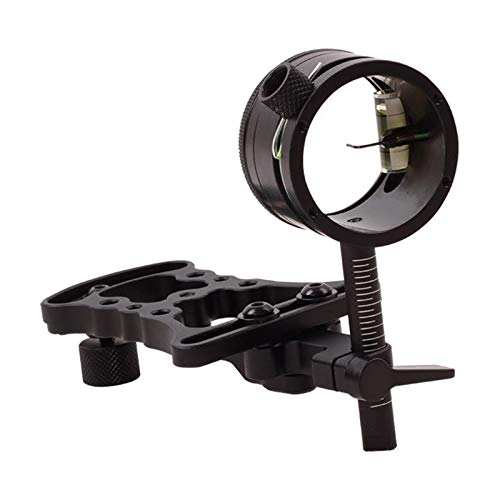 koolsoo Deluxe Micro-Adjust Single Pin Bow Sight Ultralight Portable 1-Pin Slider Compound Bow Sight for Right Handed Left Handed Aiming Gear