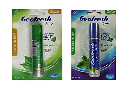 Geofresh Ayurvedic Instant Mouth Freshener Cool Mint and Paan Spray 15g