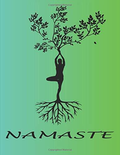 NAMASTE: Quaderno bianco a righe, per gli amanti dello yoga   zen   meditazione   ideale come regalo   Donne   Ragazze   Adolescenti   Notebook   Perfetto per scrivere