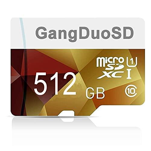 C10 - Tarjeta de memoria Micro SD de 512 GB, clase 10, tarjeta Micro TF con adaptador SD para teléfono, ordenador, cámara, Nintendo Switch, etc. (512 GB)
