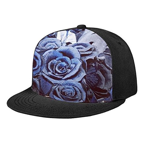 Premium Floral Flower Hawaiian Hip Hop Baseball Cap Adjustable Trucker Dad Hat Flat Bill Brim Classic Snapback Hats for Men Women