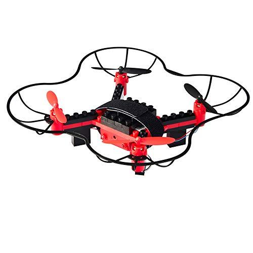 LXWM DIY Rc Drone Building Block Drone Elicottero 2.4G 4CH 3D Volante UFO WiFi Mini Telecomando Drone Bambino Compleanno Regalo di Natale