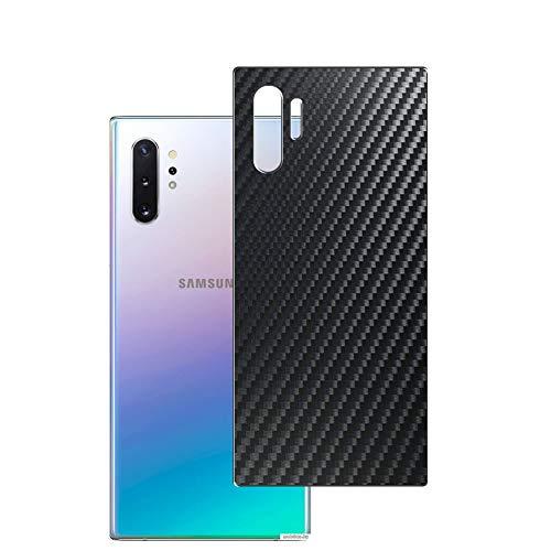 Vaxson 2 Unidades Protector de pantalla Posterior, compatible con Samsung Galaxy NOTE PLUS Note10+ Note10+ 5G SM-N976F, Película Protectora Espalda Skin Cover - Fibra de Carbono Negro