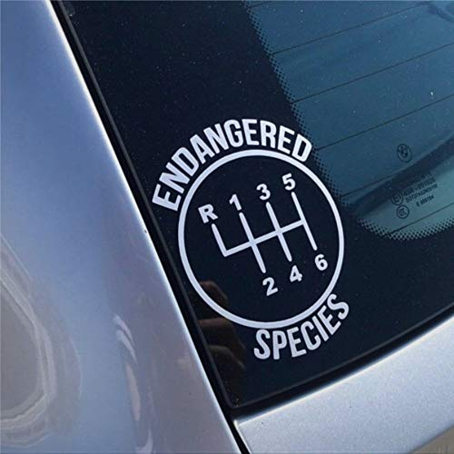 6 Speed Gear Endangered Species Stick Shift Manual Car Stickers Car Decal Window Decal Vinyl Decal Die Cut Decals Funny Laptop Stickers Bumper Stickers Present