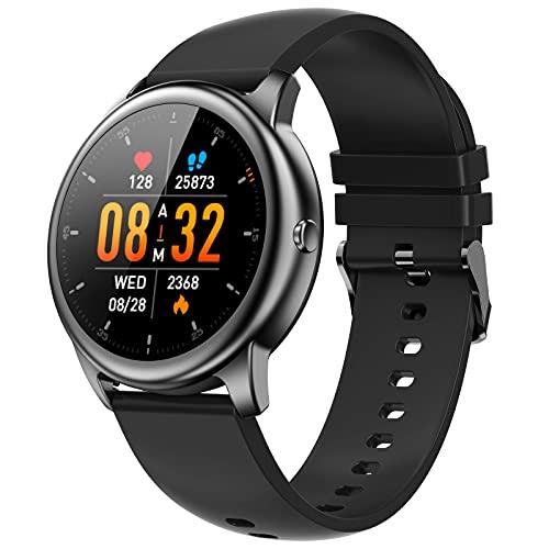 Smartwatch Uomo, EasySMX Orologio Fitness Tracker Bluetooth con Touchscreen, Montoraggio di Frequenza Cardiaca, Support Chiamata, Durata Lunga, Orologio Intelligente Donna Impermeabile per Android iOS