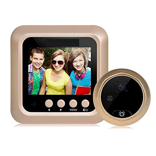 2,4 inch draadloze video-deurbel bewakingscamera PIR, videobewaking met 160 ° groothoeklens, nachtzicht HD