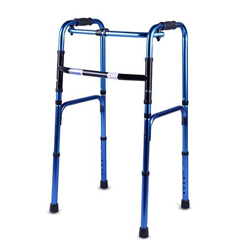 Rollatoren Walkers Armlehne Walker Vierbeiner Cane Blaue Hilfswanderer Walker Für Senioren Klappbarer Walker Lauflernhilfe Walker-Zubehör Höhenverstellbar Ohne Rad