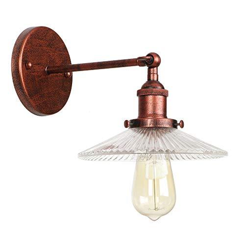KADONNY Bras articulé Applique murale Industrielle Vintage poignée réglable Rustic Loft Light Lampe murale LED E27 créatif métal pliable Mur éclairage couleur nostalgique rouille