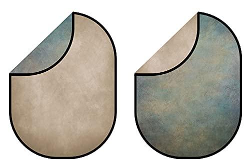 Kate 5X6.5ft (1.5x2m) Textura marrón Claro Fondos Plegables Fondo Verde Gris Fondo...