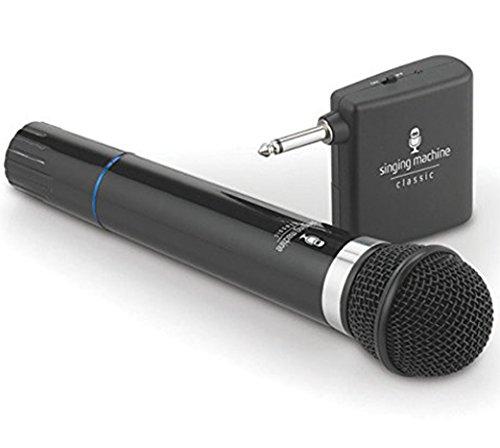 Microphone Wireless Singing Machine SMM-107 Uni-Directional Dynamic - Black (Renewed)