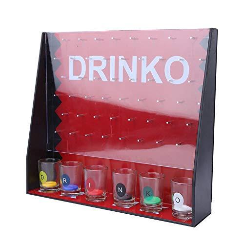 Biitfuu Unterhaltsames Party-Trinkspiel Lustiges Schnapsglas-Partyspiel für Gruppen, die Chips Bar Shot-Spiel mit 6 Weingläsern Fallen Lassen