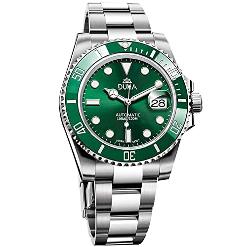 DUKA Herren Automatikuhren Herren Mechanische Armbanduhren Edelstahl wasserdichte Uhren für Herren Japan NH35A Bewegung