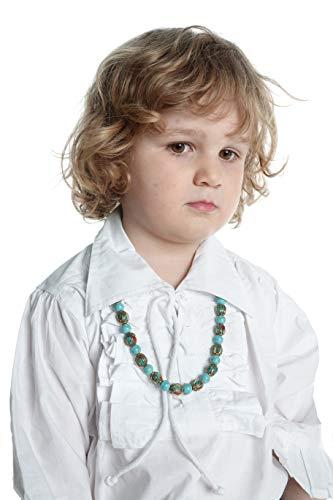 HEMAD Kinder-Rüschenhemd Piraten-Schnür-Hemd weiß L