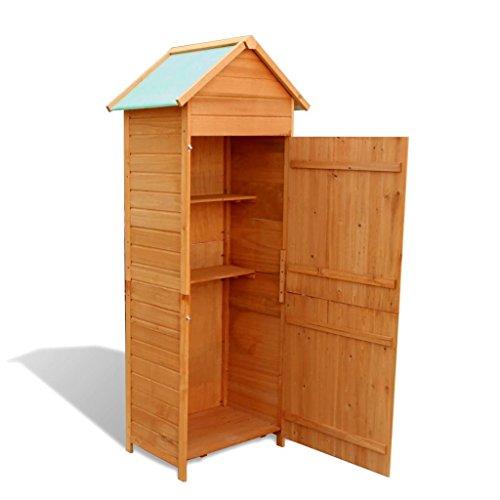 Tidyard Holz-Geräteschrank Aufbewahrungsschrank Geräteschrank Geräteschuppen Gartenhaus Schrank Größe:79 x 49 x 190 cm (L x B x H)