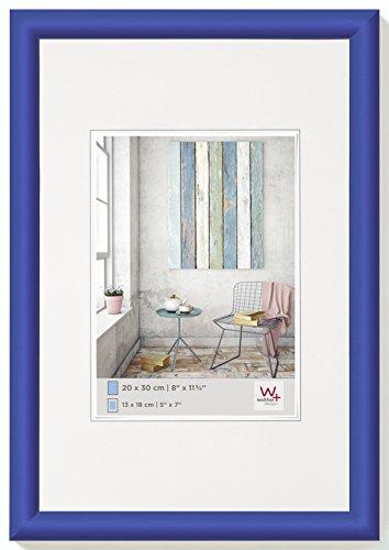 walther design KP030M Trendstyle Kunststoffrahmen, 20x30 cm, indigoblau