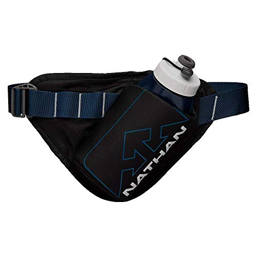 Nathan Running Belt - Peak Lite Waist Pack with Hydration and Phone Storage Pocket. Peak Lite for Running, Hiking, Biking and More. No Bounce Water Bottle Flask (Included)