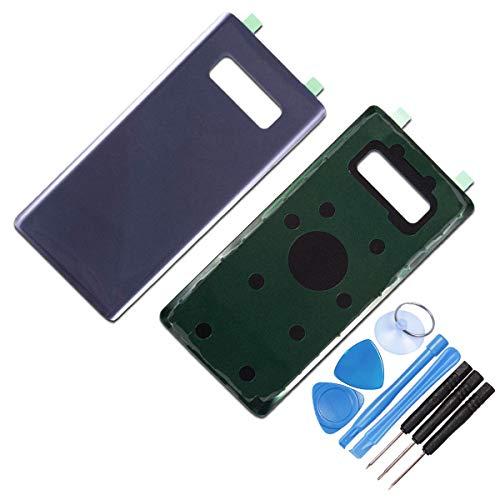 DE TECH DOCTOR vervangende glazen achterkant behuizing voor Samsung Note 8 - Compleet met gereedschap en lijm - Professionele reparatiekit (zwart), roze