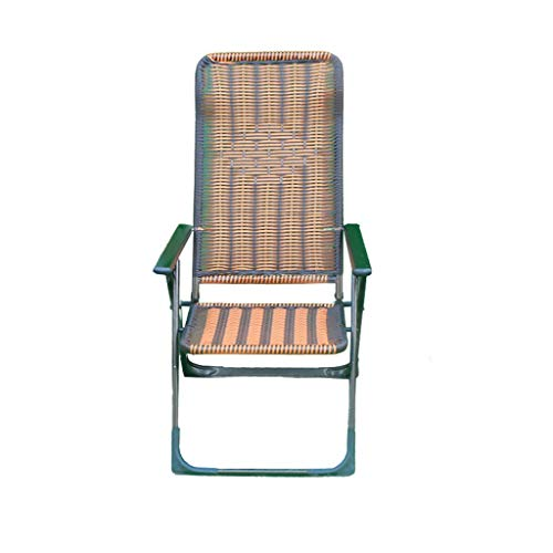 LIYONG Pause déjeuner Chaise Pliante Chaise de Bureau Fauteuil pour Personnes âgées Plage déjeuner Pause Chaise Longue Balcon Chaise Longue Pliante