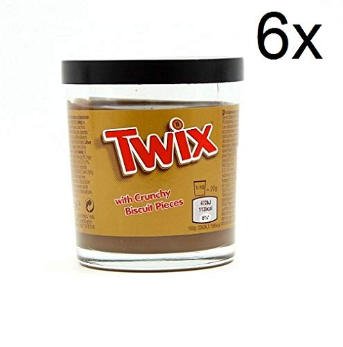 6x Twix Crema Spalmabile Schokolade und Karamell Streichfähige Sahne 200 g