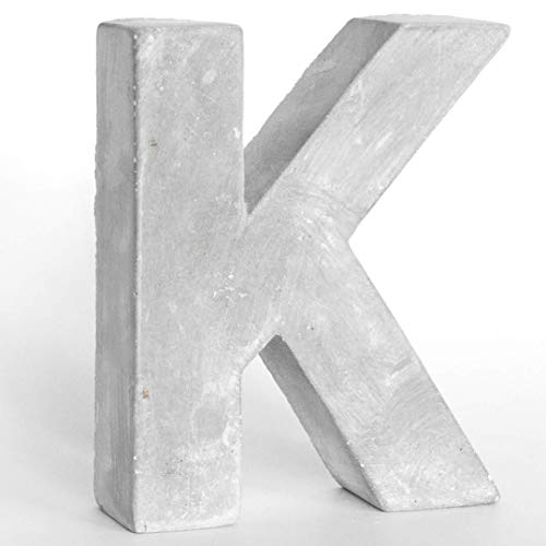 Alenio Individuelle Beton Deko Buchstaben Ihr Name in 3D Zement Home DIY Schriftzug Love Wohnzimmer Dekobuchstaben H15cm (K)