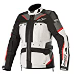 Stella Women's Andes Pro Drystar Waterproof Touring Motorcycle Jacket for Tech-Air Street Airbag System (Large, Light Gray Black Dark Gray Red)