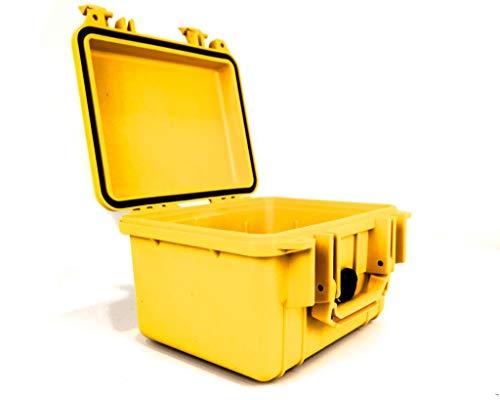 PELI 1300 Polypropylen Koffer, IP67 Wasser- und Staubdicht, 6L Volumen, Hergestellt in den USA, Ohne Schaum, Gelb