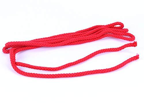 trendmarkt24 Springseil rot Hüpfseil 3m lang Ø 0,8 cm breit Sport-Seil geflochten für Fitness Spring Übungen ohne Griffe Indoor Seilspringen für Kinder ab +3 Jahre | 8578367499-A