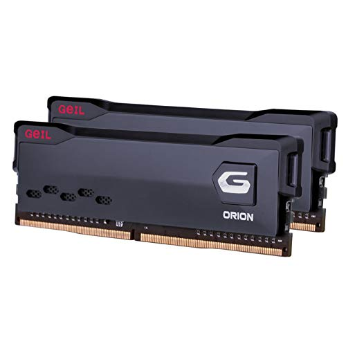 GeIL Orion DDR4 RAM, 16GB (8GBx2) 3200MHz 1.35V XMP2.0, Intel/AMD Compatible, Long DIMM High Speed Desktop Memory, Hardcore Immersive Gaming/Multimedia Content Creation/Quality Live Streaming
