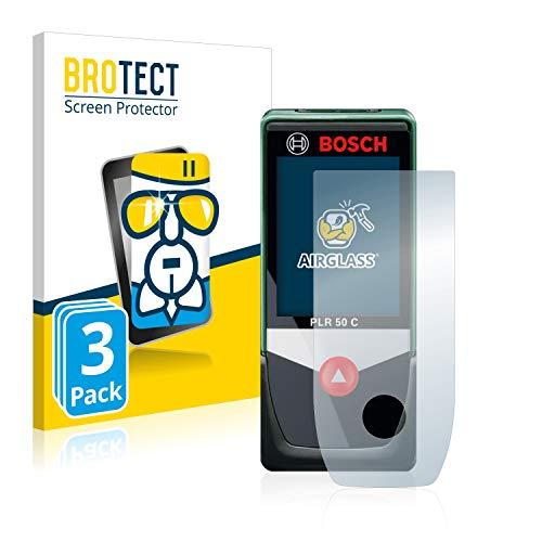 BROTECT Panzerglas Schutzfolie kompatibel mit Bosch PLR 50 C (3 Stück) - AirGlass, 9H Härte, Anti-Fingerprint, HD-Clear