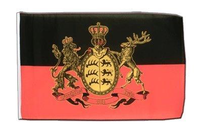 Deutschland Württemberg Furchtlos und Treu Flagge, württembergische Fahne 30 x 45 cm, MaxFlags®