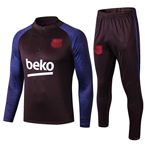 L-YIN Tire Jersey Suit Europa Football Club Training deportes al aire libre de los hombres de la mitad (Tops + Pants) - AG0379 Chándales (Color : Blue, Size : L)