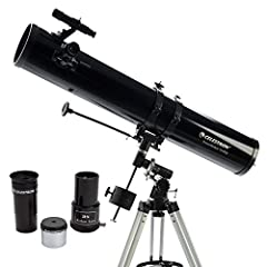 PERFECT BEGINNERS TELESCOPE: The Celestron PowerSeeker 114EQ is an easy-to-use and powerful telescope. The PowerSeeker series is designed to give the first-time telescope user the perfect combination of quality, value, features, and power. MANUAL GER...
