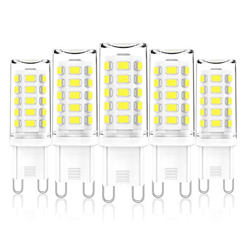 G9 LED Dimmbar Kaltweiss 3W Entspricht 28W-40W Halogenlampen, G9 LED Lampe, Kein Flimmern, 345LM, 6000K, AC 220V-240V, G9 Bi-Pin-LED-Kapselbirne, 5er-Pack, CHEERBEE