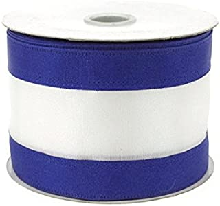 Homeford Firefly Imports Stripe Sport Theme Ribbon Wired Edge, 2-1/2-Inch, 10 Yards, 2-1/2