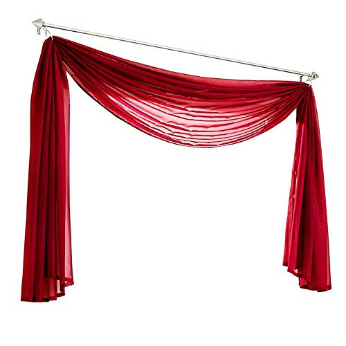 KMSG Sheer Voile Window Curtain Sca…