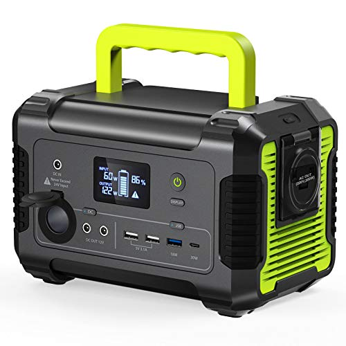 [2020 New Updated] Portable Power Station 200, 230Wh/62400mAh Camping Solar Generator Emergency Backup Battery, 110V/ 200W (300W Peak) AC Outlet,...