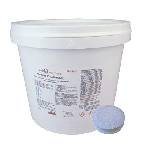 well2wellness Chlortabletten Pool Chlor Multitabs 10-Action 200g mit 10 Funktionen - 5,0 kg