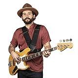 Slinger Straps Harness Strap | 3-Inch Black Double Shoulder Ergonomic Guitar Strap For Bass Or Guitar