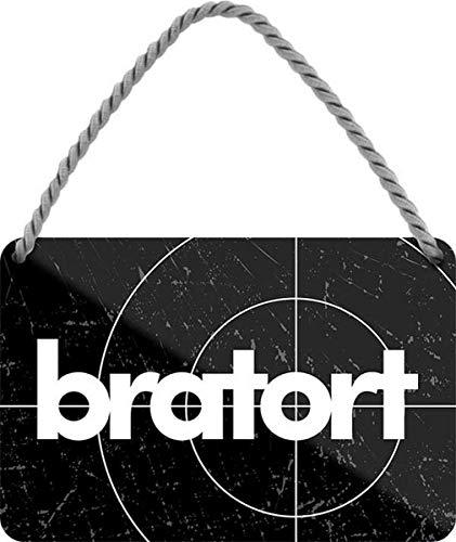 N / A Bratort - Küche Grill 18x12 cm Spruch Blechschild Hängeschild HS514