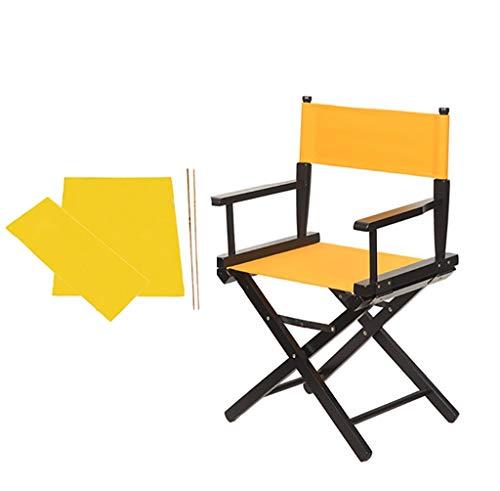 YTYZD Nuevos Directores Sillas Sillas de Repuesto Espesar Cubierta de Tela de Lona for sillas de reemplazo Lona Casual 1 Set y 2Flat Stick (Amarillo)
