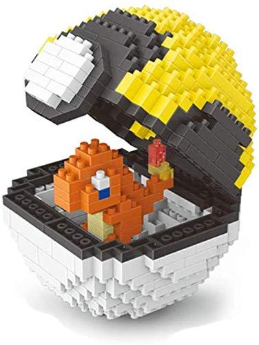 LAL6 Building Block, Building Block Pokemon Modèle Building Block Set 400 + Pcs Pokemon Boule Nano Mini Blocs Bricolage Jouets, Casse-tête 3D Bricolage Jouet Éducatif, Convient Aux Enfants,Dragon