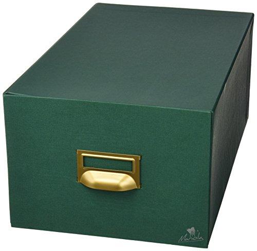Mariola 4-1000 - Fichero cartón forrado en Geltex para 1000 fichas dimensiones 220 x 155 x 350 mm, color verde 🔥