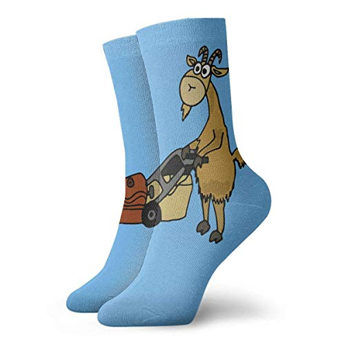 N\A Ziege Pushing Rasenmäher 30cm lange Socken Athletic Cotton Freizeitstrümpfe