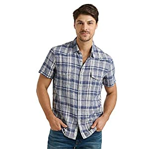 Men's Short Sleeve Button Up Two Pocket Santa Fe Western Shirt