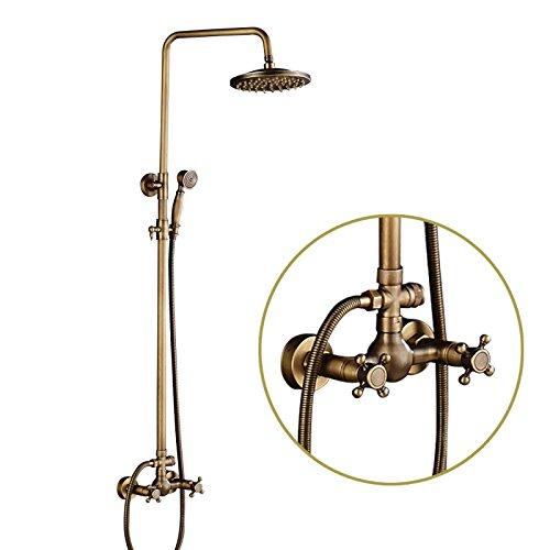 Rozin Badewannen- / Duscharmatur, Wandmontage, 20,3 cm, Regendusche mit Handbrause, Mischbatterie