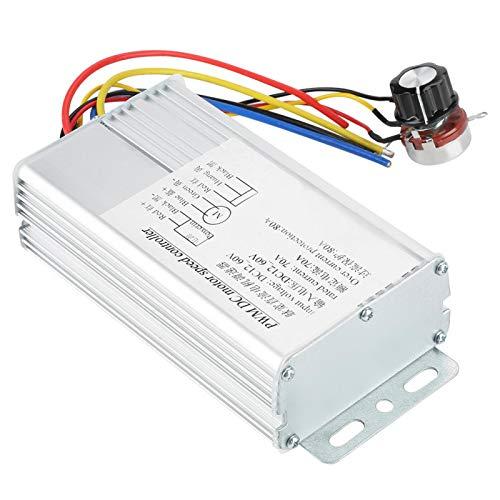 Controlador de velocidad del motor, controlador de regulador de voltaje electrónico PWM Controladores de velocidad del motor de CC, controlador PWM de 12V, para controlar el voltaje y la
