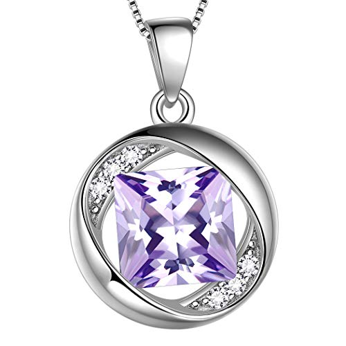 Aurora Tears June Birthstone Necklace 925 Sterling Silver Blue Alexandrite Birth Stone Pendant Jewellery Gifts for Women and Girls DP0029D